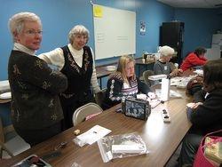 Donna H. and workshop teacher Jane Ellen Balzuweit, take a break